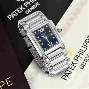 Patek Philippe Twenty~4 Ladies Diamond Watch in Steel