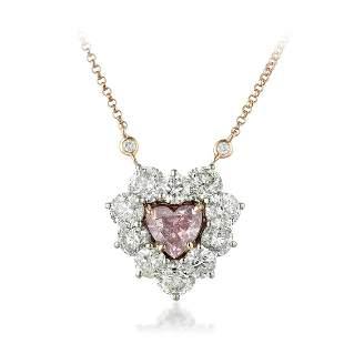 A 1.15-Carat Fancy Purple-Pink Heart-Shaped Diamond