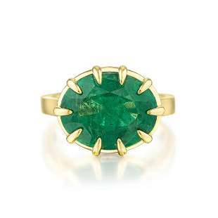 A 6.30-Carat Zambian Emerald Ring