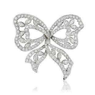 A Diamond Bow Pin/Pendant