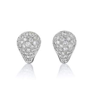 A Fine Pair of Diamond Earrings, French
