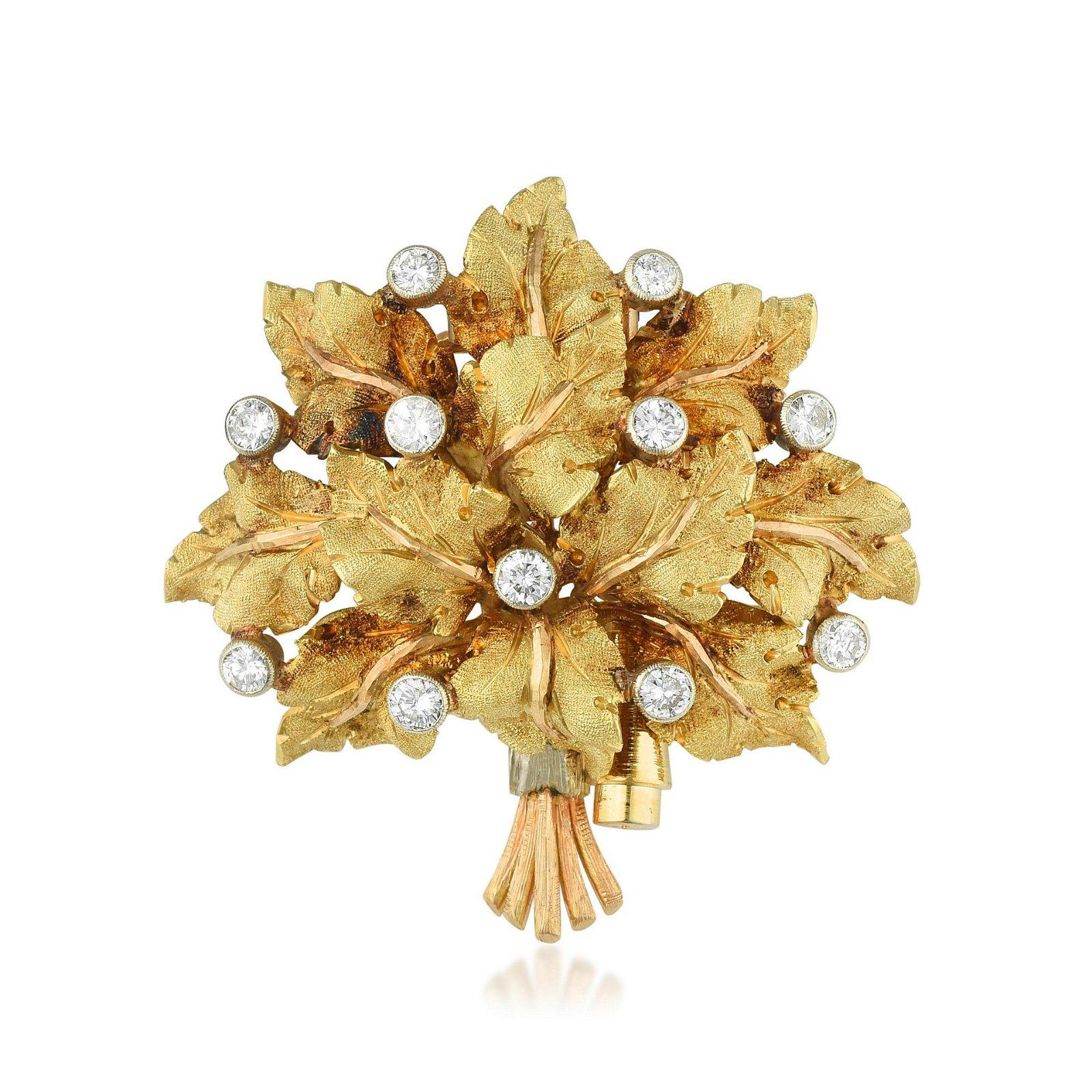 Mario Buccellati Diamond Bouquet Pin