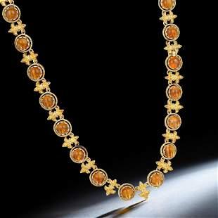Buccellati Citrine Fleur de Lis Necklace