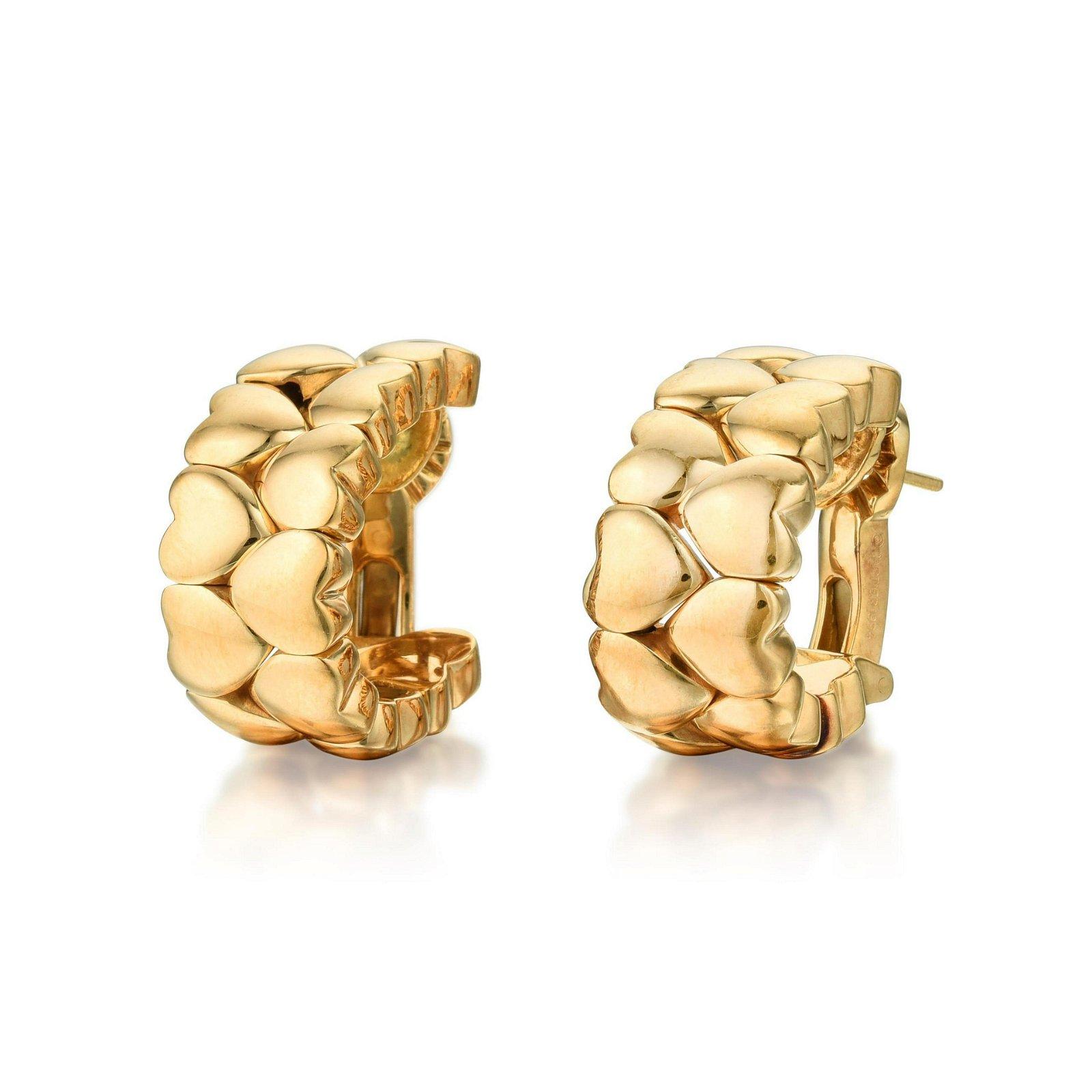 Cartier Double Heart Hoop Earrings