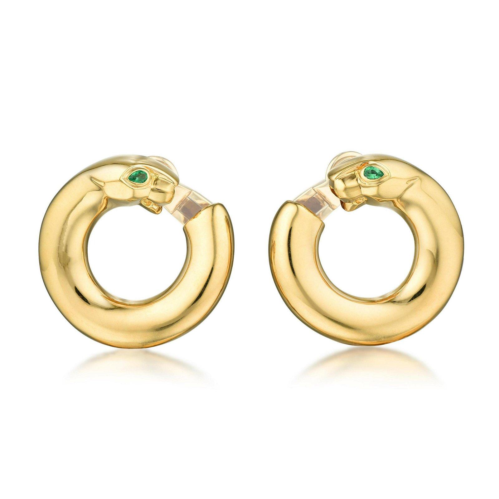 Cartier Panthere Hoop Earrings