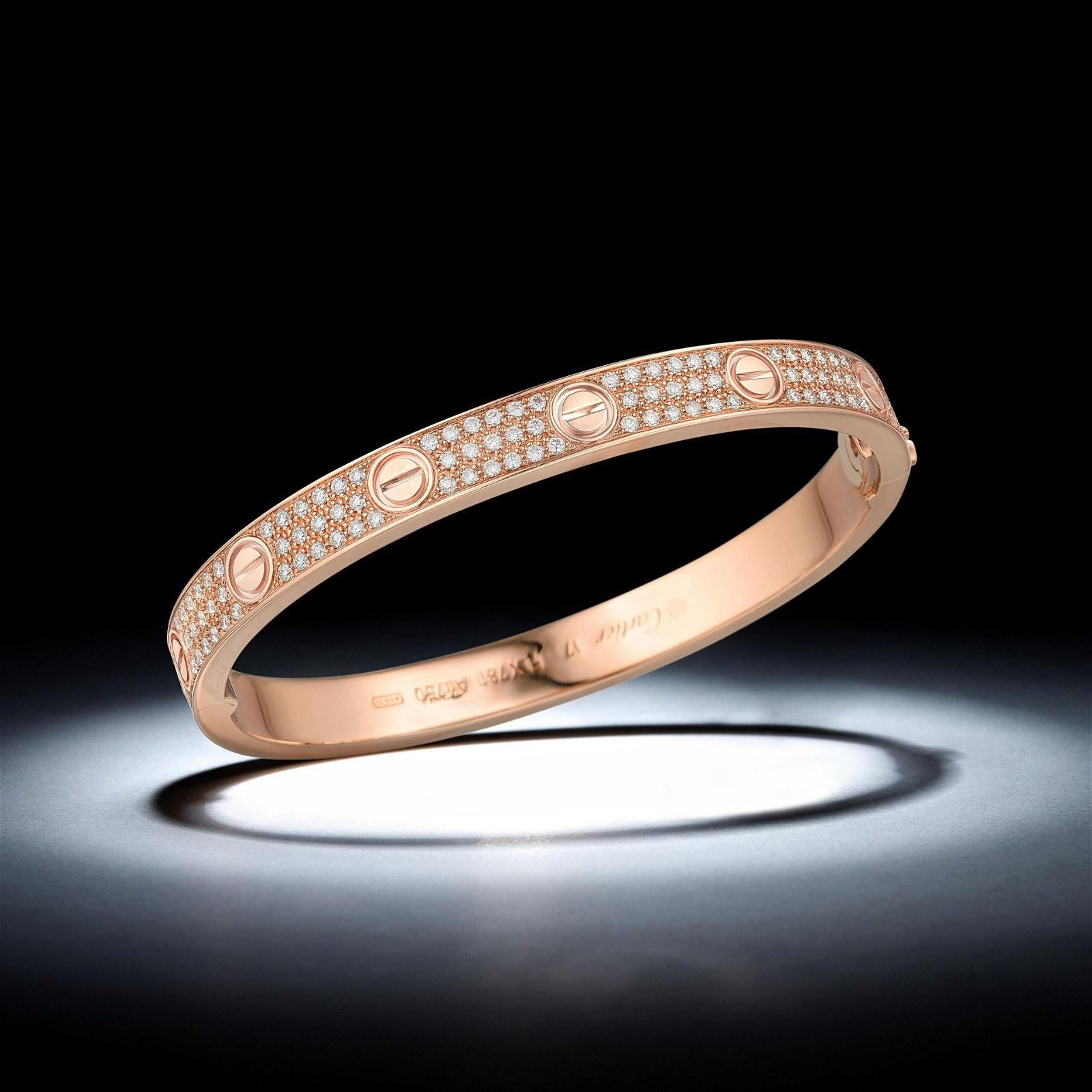 Cartier Diamond-Paved Love Bracelet