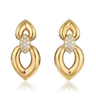 Van Cleef Arpels Diamond Earrings