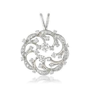 A Diamond Circle Pendant