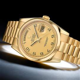 Rolex Day-Date Ref. 118208 in 18K Yellow Gold