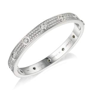 Cartier Diamond-Paved Love Bracelet