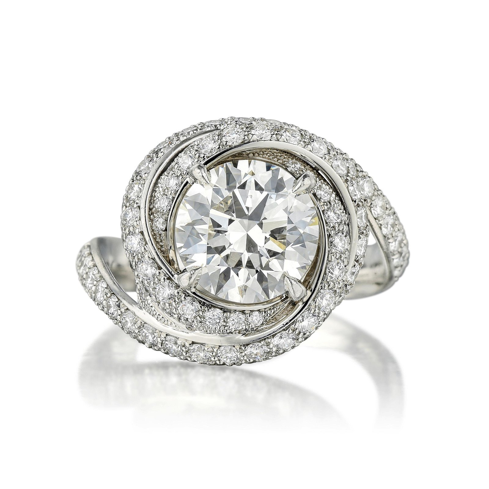 Cartier Trinity Ruban 2.16-Carat Diamond Ring