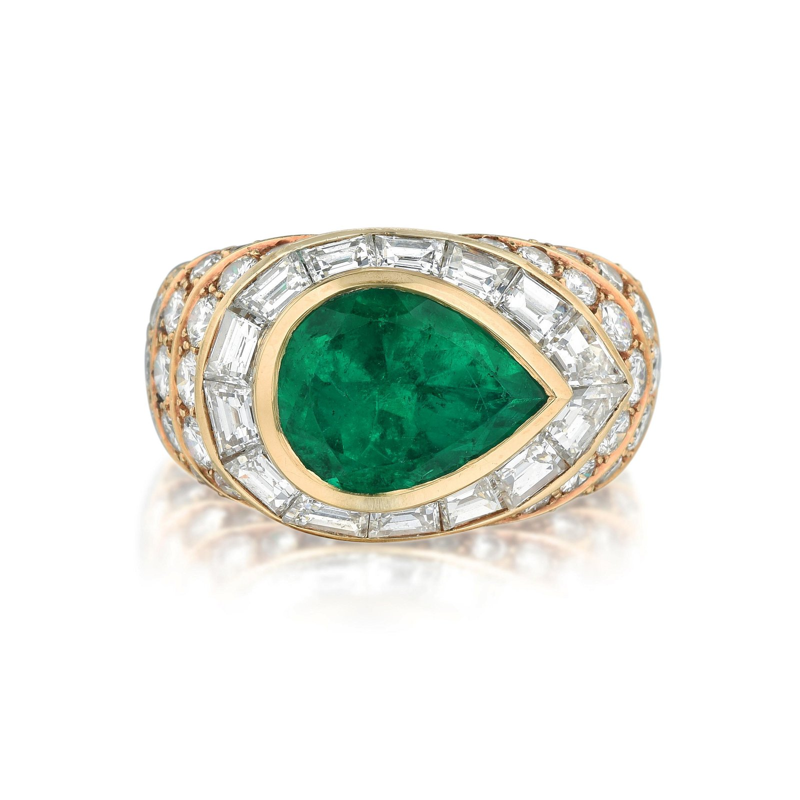 Tabbah 3.16-Carat Colombian Emerald and Diamond Ring