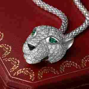 Cartier Panthere de Cartier Pave Diamond Necklace