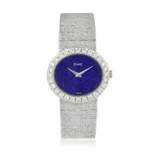 Piaget Ultra Thin Lapis Lazuli and Diamond Watch in 18K