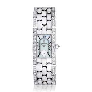 Harry Winston Avenue Diamond Ladies Watch in 18K White