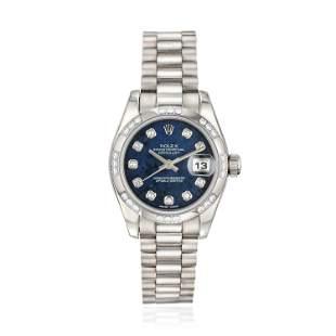 Rolex Datejust Ladies Ref. 179369 in 18K White Gold