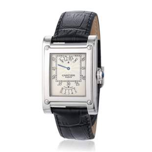 Cartier Tank-A-Vis Jumping Hour Paris Privee in 18K