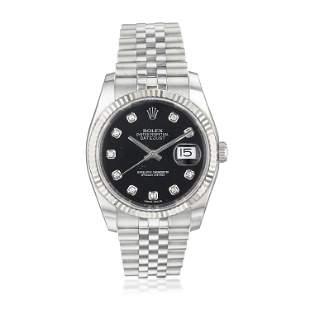 Rolex Datejust Ref. 116234 Diamond Dial in Steel