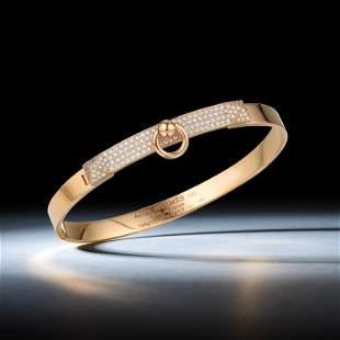 Hermes Collier de Chien Diamond Bracelet