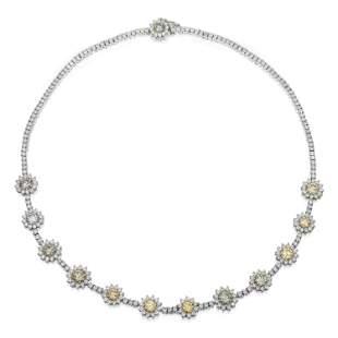 Fancy Color Diamond Necklace