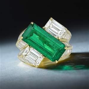 Hammerman Brothers Zambian No-Oil Emerald and Diamond