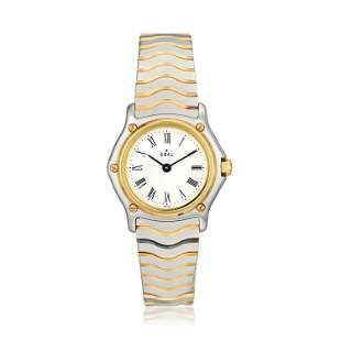 Ebel Ladies Wave Watch in Steel and 18K Gold