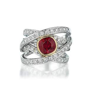 204Carat Ruby and Diamond Ring