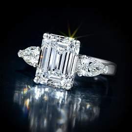 5.01-Carat Emerald-Cut Diamond Ring
