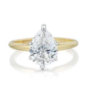 183Carat PearShaped Diamond Ring