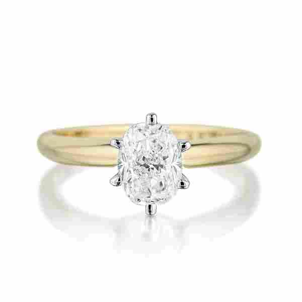 1.00-Carat Oval-Shaped Diamond Ring