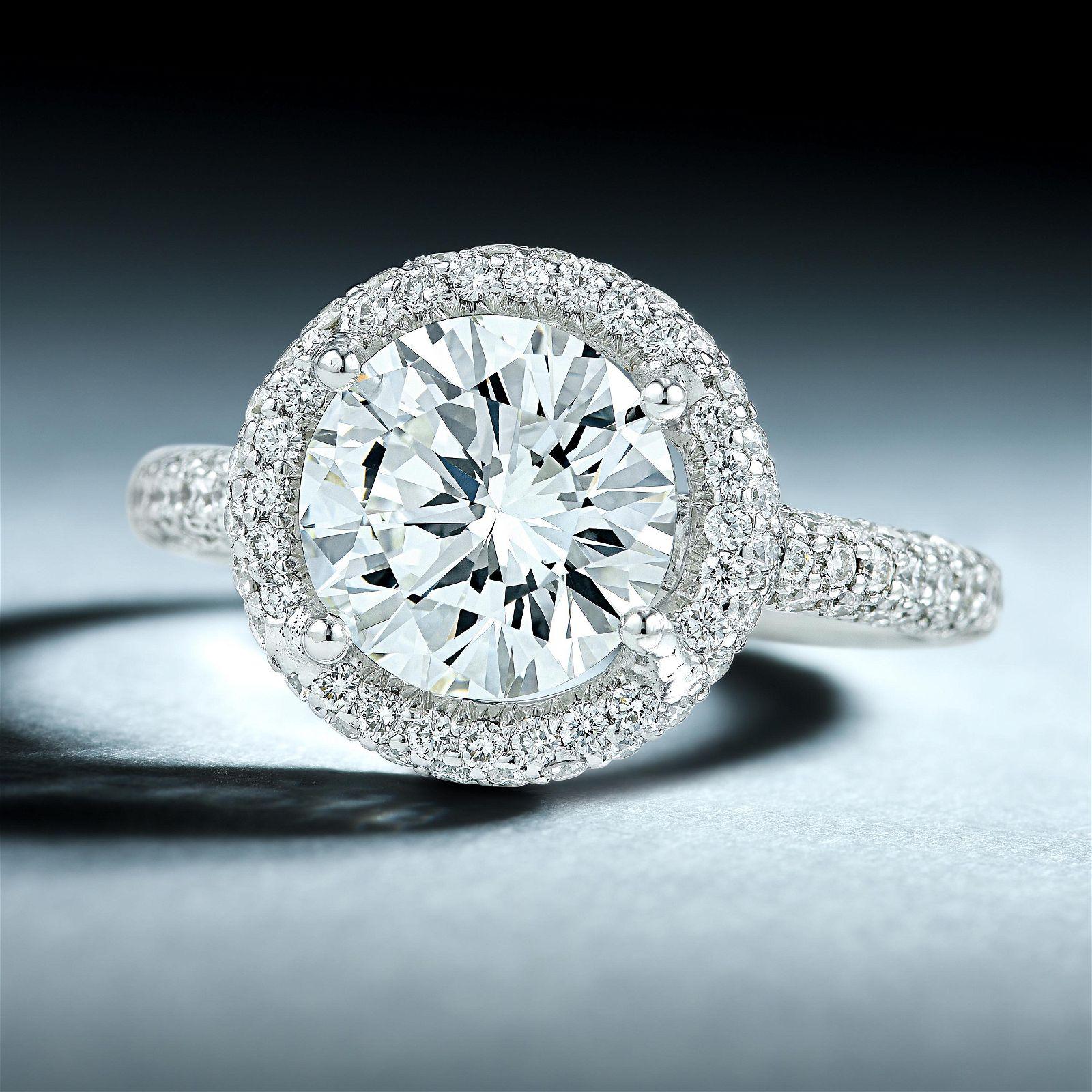 2.02-Carat Round Brilliant-Cut Diamond Ring
