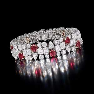 Chaumet Ruby and Diamond Bracelet