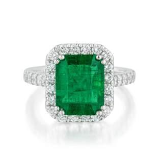 Orianne Emerald and Diamond Ring