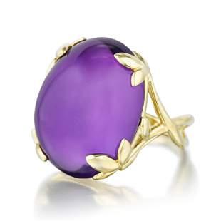 Tiffany & Co. Paloma Picasso Olive Leaf Amethyst Ring