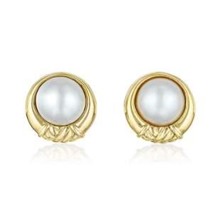 Tiffany & Co. Mabe Pearl Earrings