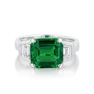 Leo A. Bachrach Fine Tsavorite and Diamond Ring