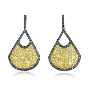 Diamond Fan Earrings