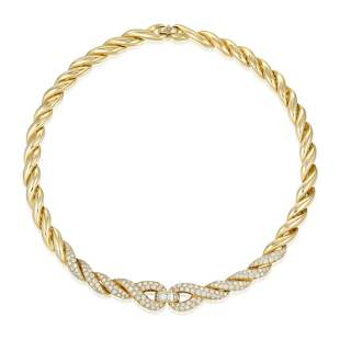 Fred Diamond Link Chain Necklace