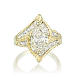 MarquiseCut Diamond Ring