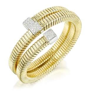 Diamond Spiral Bracelet Italian