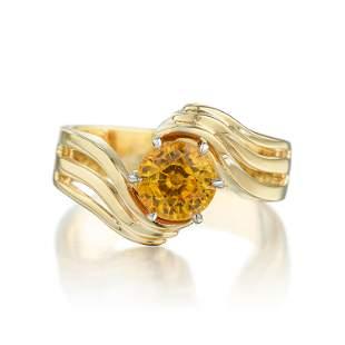 202Carat Orange Sapphire Ring