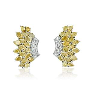 Colored Diamond Cluster Earrings
