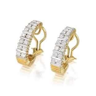 Diamond Hoop Earclips