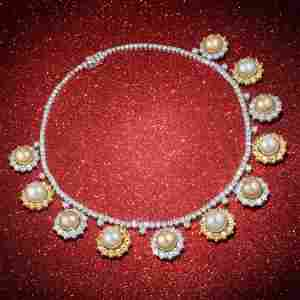 Boucheron Diamond Yellow Sapphire and South Sea