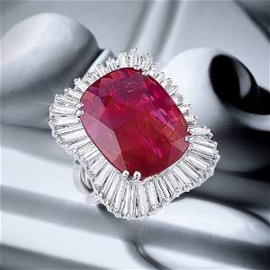 Monture Boucheron Fine Burmese Unheated Ruby and