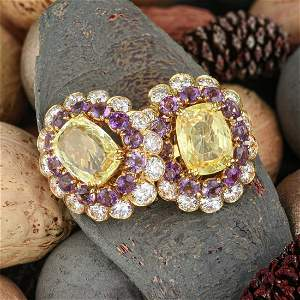 Van Cleef & Arpels Yellow Sapphire Amethyst and Diamond