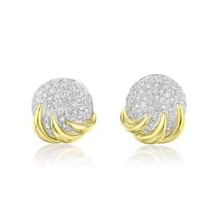 Diamond Dome Earrings