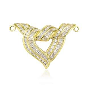 Diamond Open Heart SlidePendant