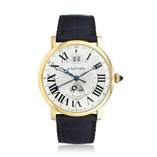 Cartier Ronde GMT with Big Date in 18K Rose Gold