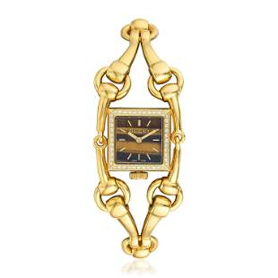 Gucci Signoria Tiger's Eye in 18K Gold and Diamonds